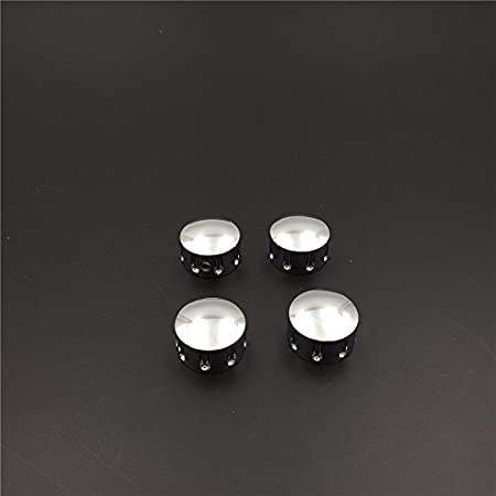 HTT Motorcycle Black Grooved Bolts Toppers Caps Fits Harley Davidson XL XR Evolution 1340 Twin Cam models Dyna Softail Road King FLH