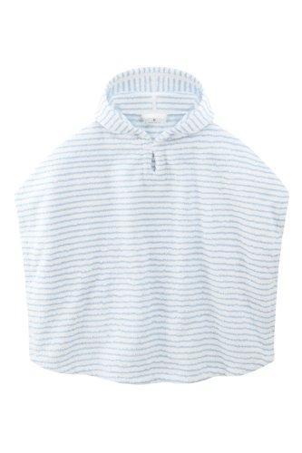 bellybutton 10893 gestreifter Frotteeponcho, Mehrfarbig (weiß-blau)