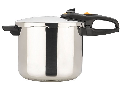 Stainless Steel, Triple-Safety System Pressure Cooker & C...