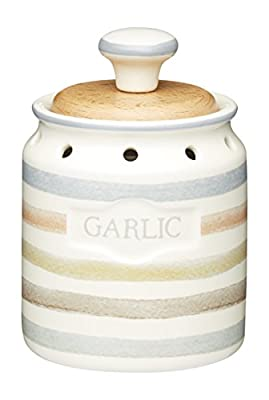 Kitchencraft Classic Collection Vintage-style Ceramic Garlic Keeper Storage Pot