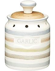 "KitchenCraft Classic Collection Vintage-Style Ceramic Garlic Keeper Storage Pot, 8 x 13.5 cm (3"" x 5.5"")"
