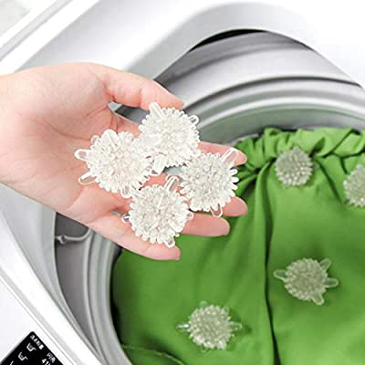 Ecurson 10PCS Laundry Ball Decontamination Anti Tangles Wash Clothes Soft Cleaning Ball