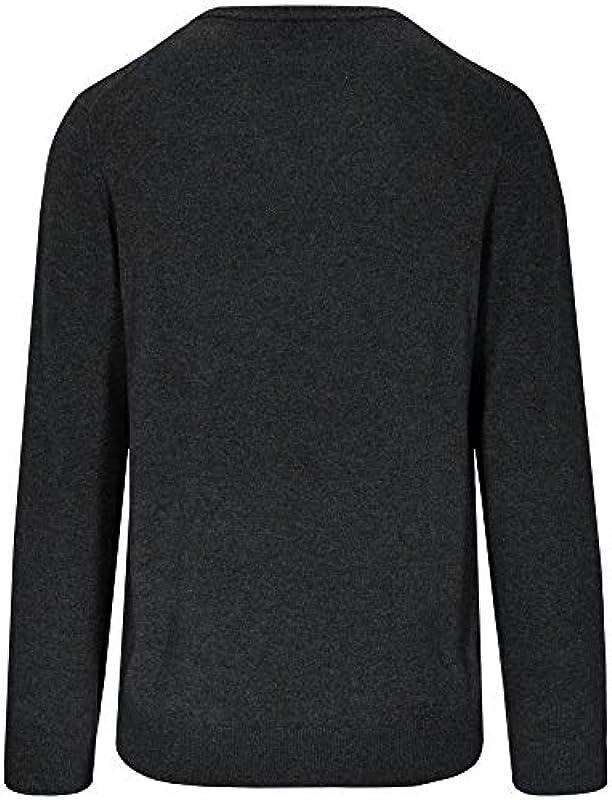 Commander męski kaszmir sweter V Anthra: Odzież
