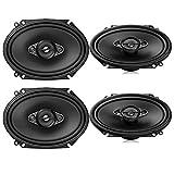 4 Pioneer 6x8 Inch 4-Way 350 Watt Max Power Car Stereo Speakers - 2 Pairs