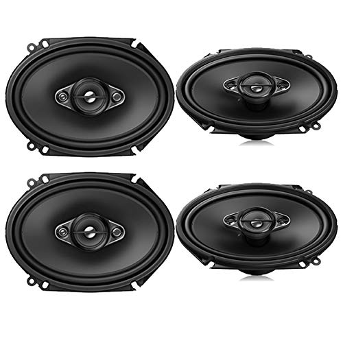 4 Pioneer 6x8 Inch 4-Way 350 Watt Max Power Car Stereo Speakers - 2 Pairs