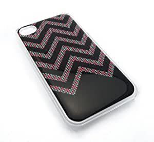 Cute Polka Dots Chevron Zig Zag Snap-On Cover Hard Carrying Case for iPhone 4/4S (Clear) by lolosakes