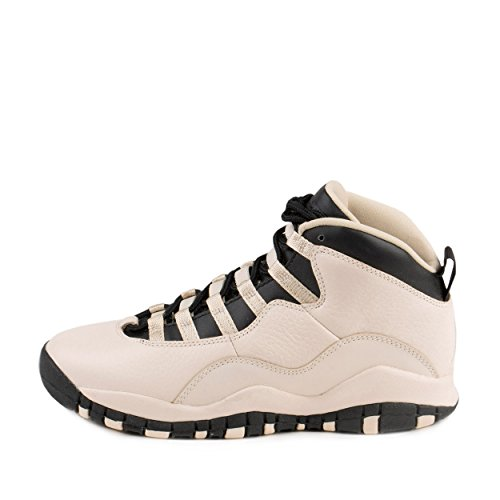 Jordan Nike Kids 10 Retro Prem GG Pearl White/Black/Black Basketball Shoe 6.5 Kids US by Jordan (Image #1)