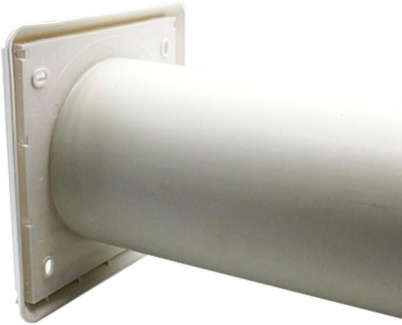 DUCVKC244 by Kair SYS-100 Kair Louvred Air Vent Wall Grille White 100mm Round Spigot