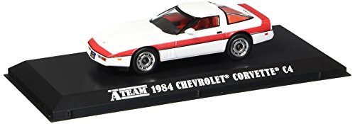 1984 Chevrolet Corvette C4 the A-Team 1/43 Greenlight Branco