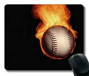 Rectangle mouse pad , Brave Tennis Ball of Fire by ruishername