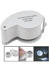Illuminated Jewelers Eye Loupe 40x-25mm with Led Lighting