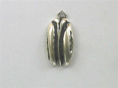 (OutletBestSelling Pendant Bracelet Sterling Silver 3-D Pecan Charm)