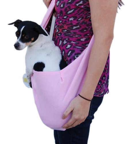 Anima Pink Cotton Sling Bag Carrier, 20-Inch by 11-Inch, My Pet Supplies