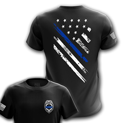Tactical Pro Supply Blue Line Support Police T Shirt - X-Large