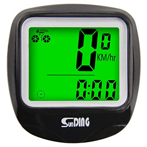 Quanna SUNDING Bike Computer Speedometer Wireless Waterproof Bicycle Odometer Cycle Computer Multi-Function LCD Back-Light Display