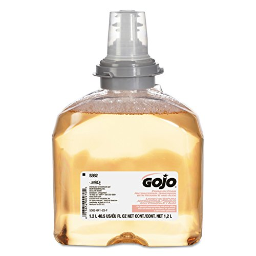 GOJO TFX Premium Foam Antibacterial Handwash, Fresh Fruit Scent, 1200 mL Foam Soap Refills for GOJO TFX Touch-Free Dispenser (Pack of 2) - 5362-02