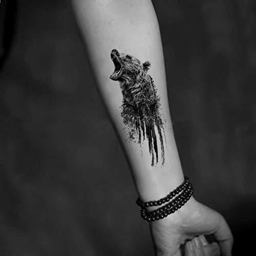 Oso Etiqueta engomada temporal del tatuaje Impermeable Adulto ...