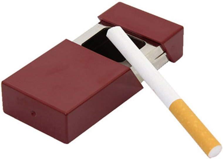 ポータブル灰皿たばこ灰皿屋外用灰ホルダーポケット喫煙灰皿蓋付きキーチェーン付き旅行用,赤