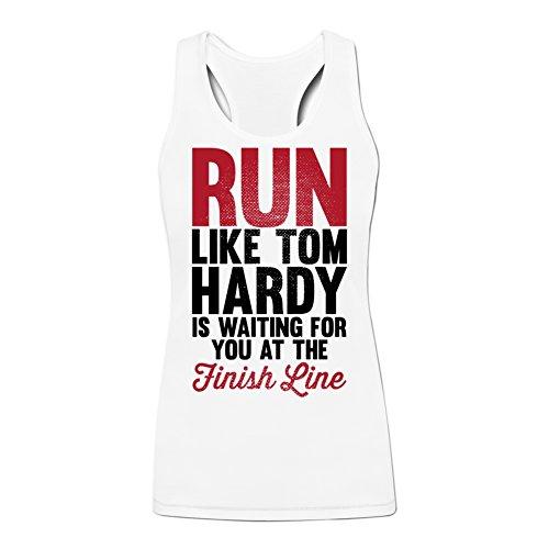 Running For Tom Hardy Print for Women's Tank L White