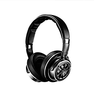 1MORE Triple Driver Over-Ear Headphones Comfortable Foldable Earphones with Hi-Res Hi-Fi Sound, Bass Driven, Tangle-Free Detachable Cable for Smartphones/Android/PC/Tablet – Silver/Titanium