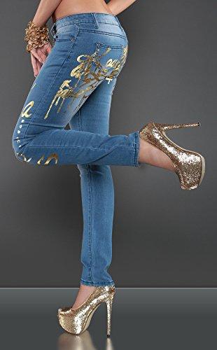 In-Stylefashion - Vaqueros - para mujer Jeansblau
