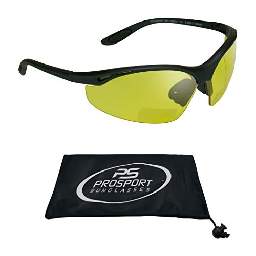 proSPORT Yellow Safety Bifocal Glasses Z87 Mens and Womens for Night Driving and Riding