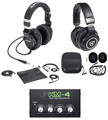 Pack Z55 (Samson Z-55 Lambskin Studio Headphones+Monitoring Headphones+Mackie 4-Way Amp)