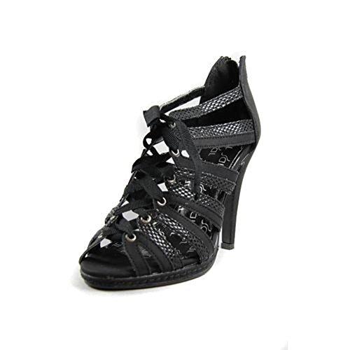 """Sandales à lacets """"The Divine Factory"""" TDF265 Noir"""