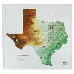 Hubbard Scientific Raised Relief Map 954 Texas State Map 0795721108073 Amazon Com Books