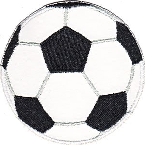 - Application Sports Pleather Soccer Ball Patch