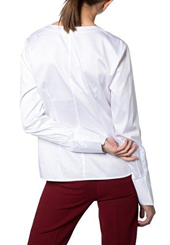 Blouse Long Stretch Eterna Modern Uni Sleeve Classic Blanco dUcfdqEy4T