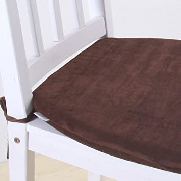 MochoHome Memory Foam Dining Chair Cushion Pad With Ties Coffee