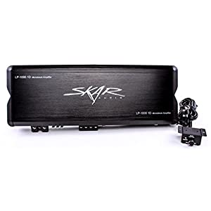 Skar Audio LP-1000.1Dv2 2000-Watt Monoblock Class D MOSFET Amplifier with Remote Level Control
