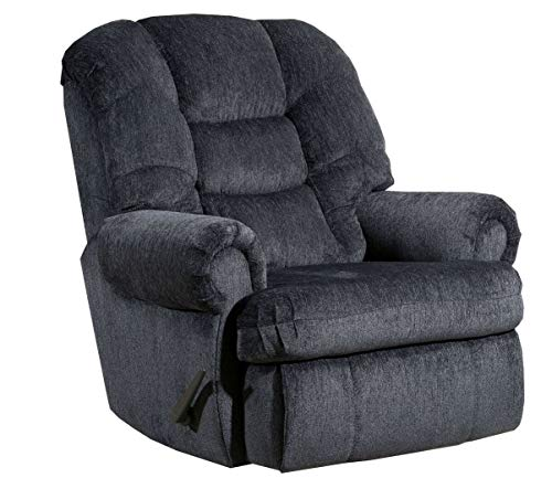 4501L Lane Stallion Big Man Comfort King (Large) Wallsaver Recliner in Gladiator Charcoal. Made for The Big Guy Or Gal. Rated for Up to 500 Lbs. Extended Length. 79 Inches. Seat Width. 25 Inches 4501