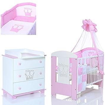 PRINZESSIN rosa Babyzimmer Möbel Komplettset für Mädchen mit ... | {Babyzimmer mädchen 52}