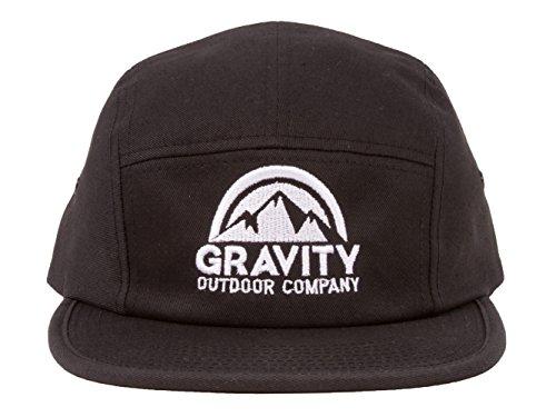 Gravity Outdoor Co. 5 Panel Hat - Black