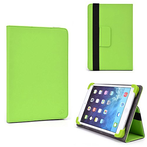[Lime Green] Leather Filp Folio Cover Case with Built-in-Stand for Amazon Kindle DX and Complimentary NextDia ™ Velcro Cable Strap