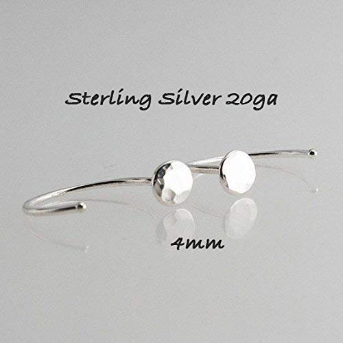 4mm Huger Hoops, Flat Disc Hugging Hoops, Tiny Earrings, Modern Hoop Jewelry, Round Disc Earrings, Dainty Earrings, Minimalist Long Earrings ()
