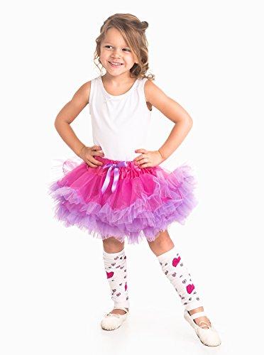 Little Adventures Fuchsia/Light Purple Fluffy Ballerina Tutu for Girls - One Size (3-8 (Girl Meets World Costumes)
