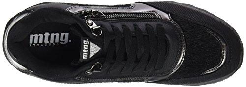 MTNG Horse Negro Negro para Mujer Zapatillas Santo Negro Anne PIWvrq0aP