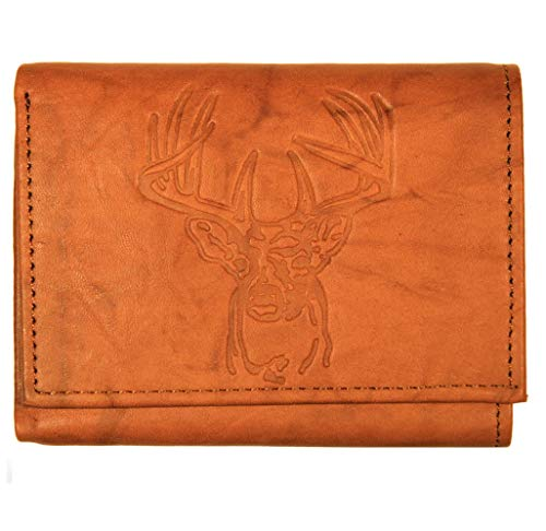 Mens Leather Trifold Deer Wallet product image