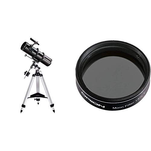 Orion 09007 SpaceProbe 130ST Equatorial Reflector Telescope (Black) &  05662 1.25-Inch 13 Percent Transmission Moon Filter (Black)
