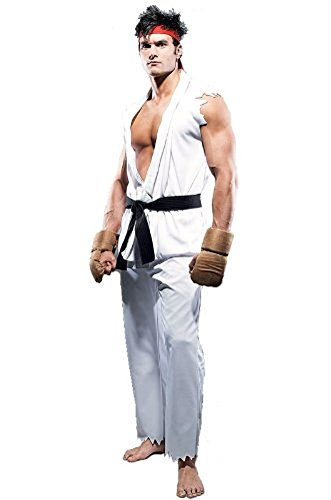 SSJ Japan Game Capcom Street Fighter 4 [Ryu and Ken] Cosplay Costume (Ryu) ()