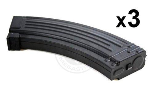 BOX OF 3 x CYMA Airsoft 150-Round Mid Capacity Magazine for AK47 / AK-47 AEGs - For CYMA, JG, Echo 1, CA, TM, ICS, G&G ()