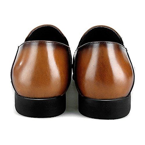 Da Mocassini Dei Brown Uomini Su Guida Deck Formale Business Barca Brogue Del Vera MERRYHE Slittamento Pelle Fannulloni Di Piatto Scarpe Vestito Shoe qgwYUda1