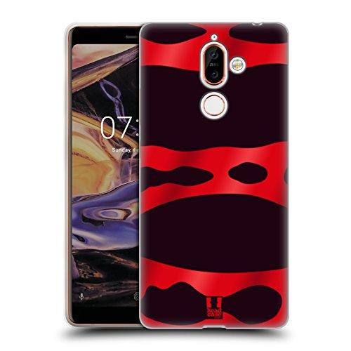 Head Case Designs Red Banded Poison Dart Frog Patterns Soft Gel Case for Nokia 7 - Shell Soft Banded