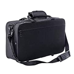 High-quality carrying case for clarinet, padded and water-resistant design, gives the best protection to your clarinet.  Soft cotton foam padding design, protecting the clarinet from bumps.  Plastic bottom feet can avoid the scratches causing...