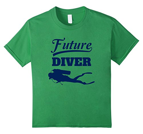 Kids Future Diver T-Shirt Scuba Diving Tee For Kids 10 Grass