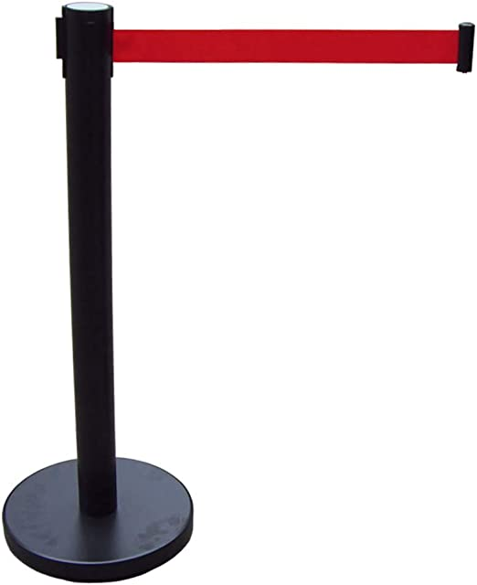 Premium Steel Post Crowd Control Barrier with 9.8 Retractable Belt 2Pcs Heavy Duty Stanchion Easy Connect Assembly for Events Parties or Crowd Control