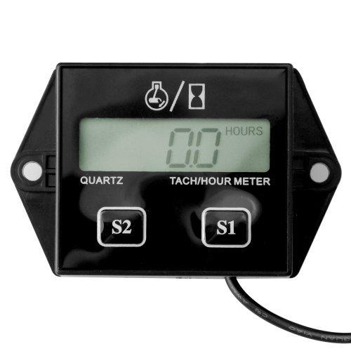 Astra Depot 1X Black 2 & 4 Stroke Small Engine Spark UTV ATV Outboard Bike PWC Tachometer Hour Meter + User Manual